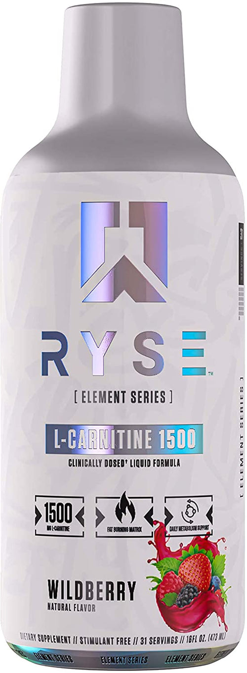 Shop RYSE Up Supplements Element Series Liquid L-Carnitine 1500mg - 16 FL Oz (31 Serving), Wildberry online  sports-nutrition-l-carnitine-supplements