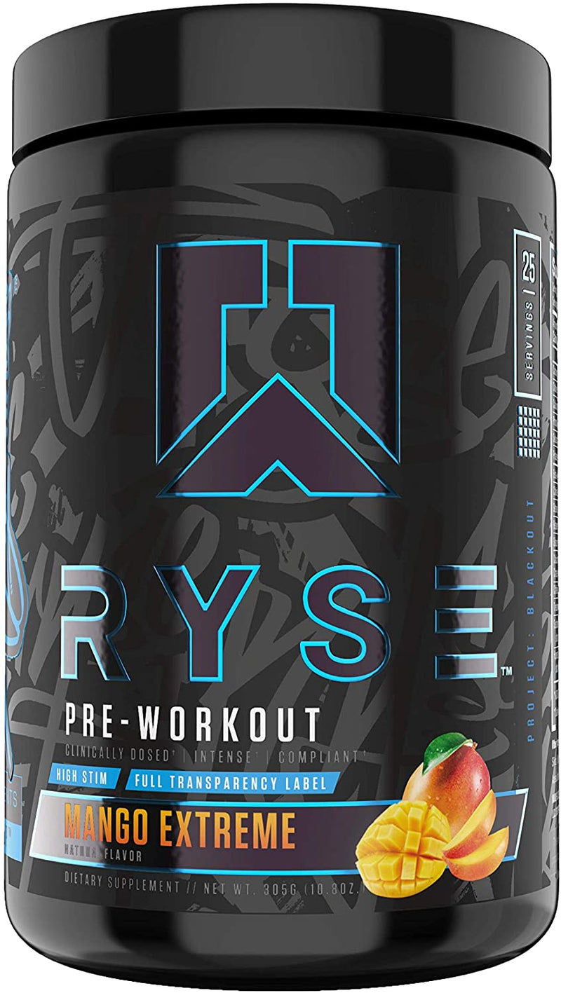 Shop RYSE Up Supplements Project: Blackout | Pre-workout, 25 Serving, Mango Extreme online  sports-nutrition-pre-workout-powders
