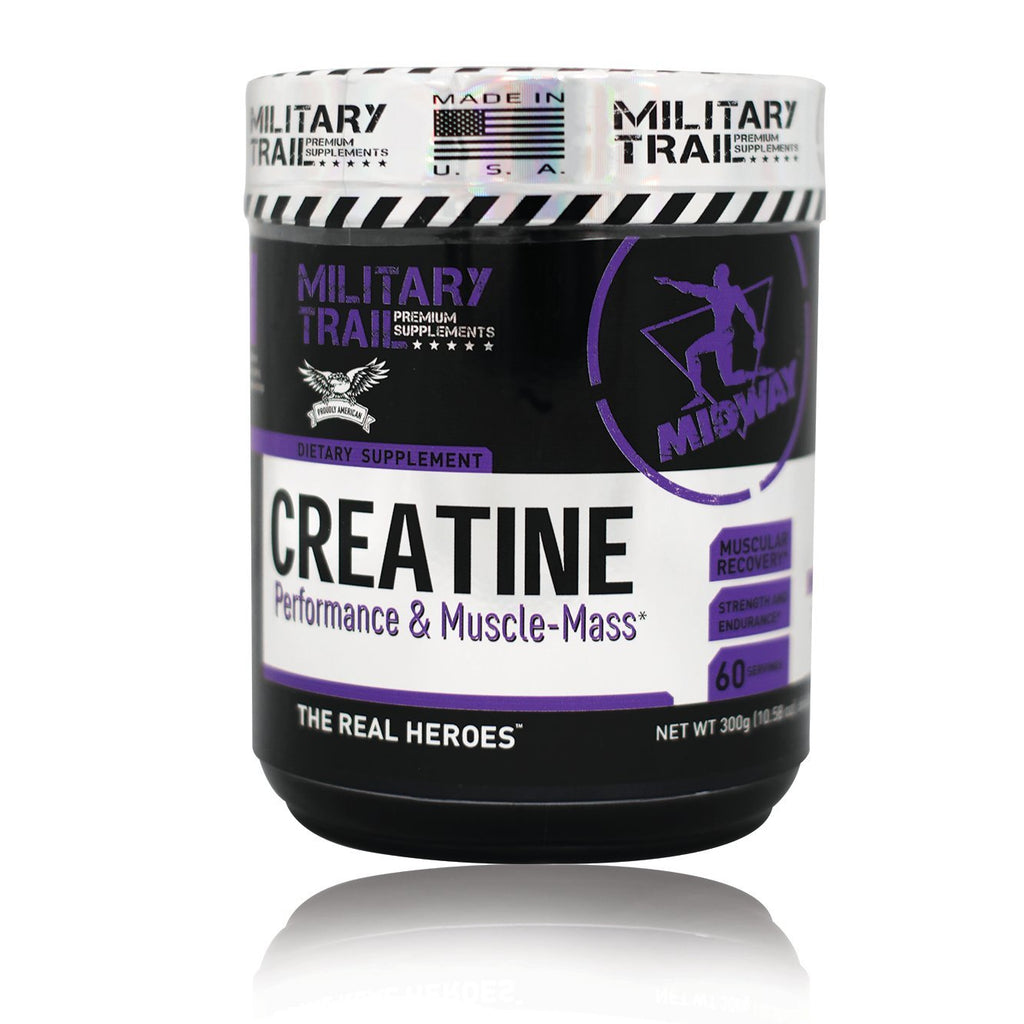 Shop Midway Labs Military Trail Creatine, 60 Serving online  creatine-nutritional-supplements