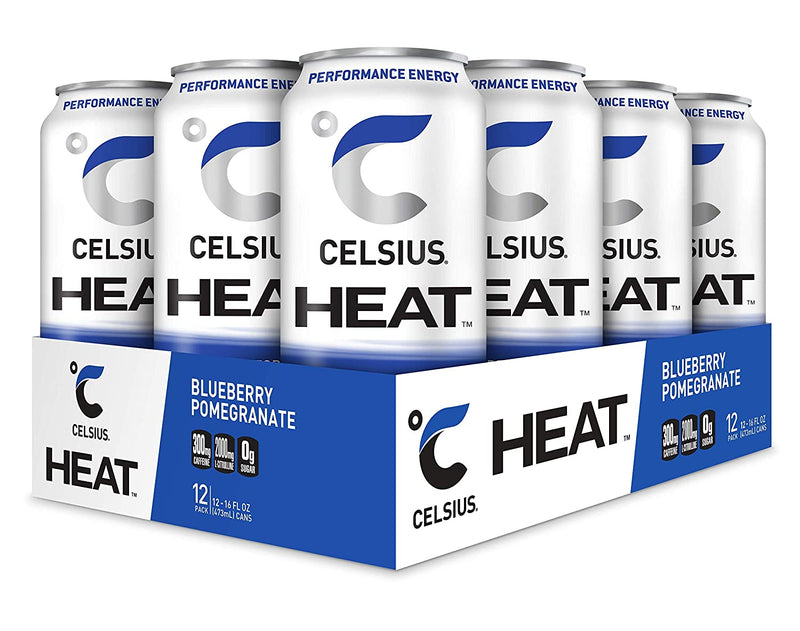 Shop CELSIUS Heat, 12-Pack, Blueberry Pomegranate online  energy-drinks