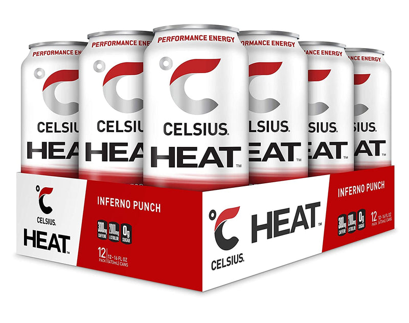Shop CELSIUS Heat, 12-Pack, Inferno Punch online  energy-drinks