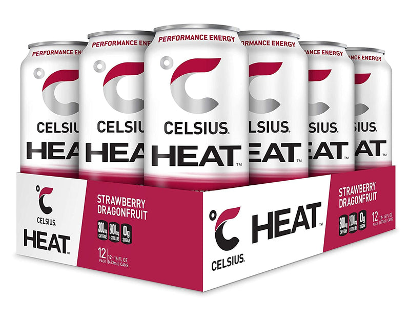 Shop CELSIUS Heat, 12-Pack, Strawberry Dragonfruit online  energy-drinks