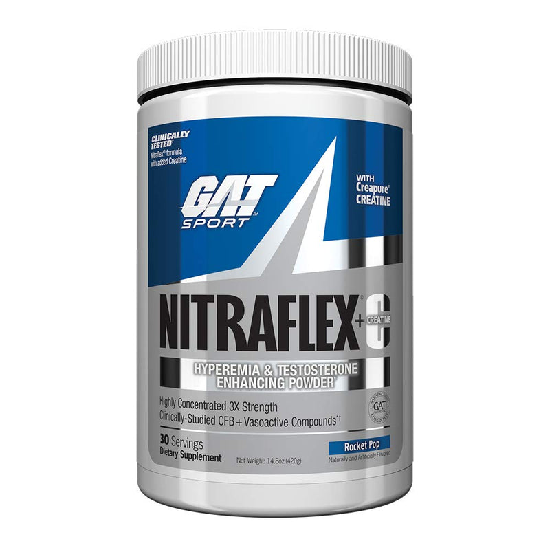 Shop GAT Sport Nitraflex + CREATINE, 30 Serving, Rocket Pop online  sports-nutrition-pre-workout-powders