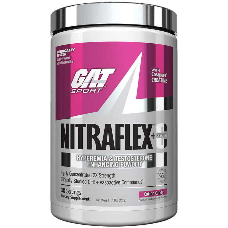 Shop GAT Sport Nitraflex + CREATINE, 30 Serving, Cotton Candy online  sports-nutrition-pre-workout-powders