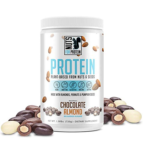 Shop Nuts For Protein Nut and Seed Plant Based Vegan Protein Powder, Chocolate Almond, 1.59 Pound online  sports-nutrition-protein-powder-blends