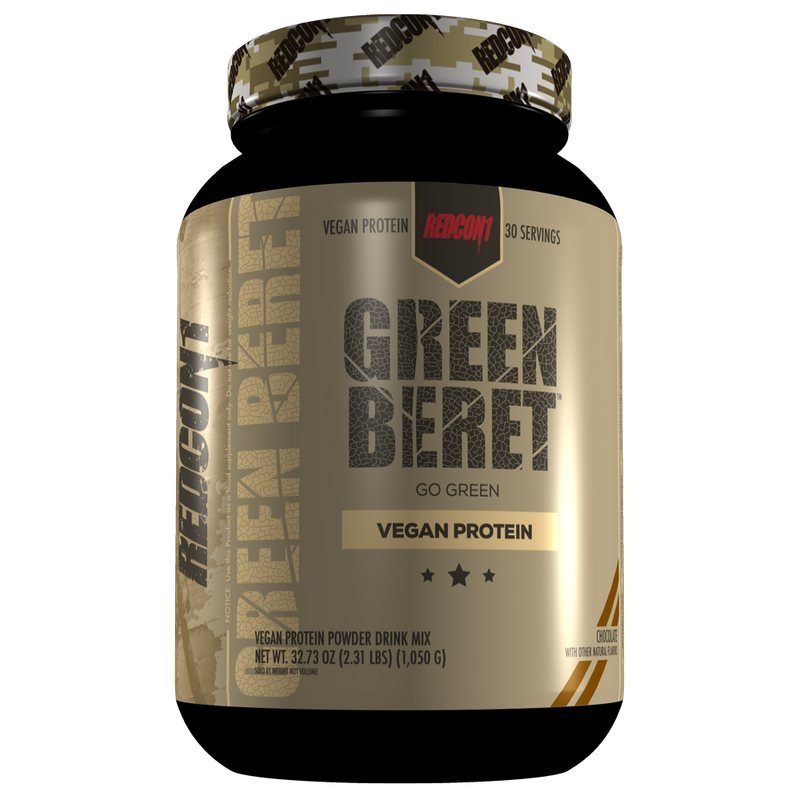 Shop Redcon1 Green Beret (Vegan Protein) 2.17 Pound (30 Serving), Chocolate online  sports-nutrition-pea-protein-powders
