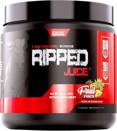 Shop Betancourt Nutrition Ripped Juice Powder DMAA Free, 30 Serving, Fruit Punch online  fat-burner-supplements