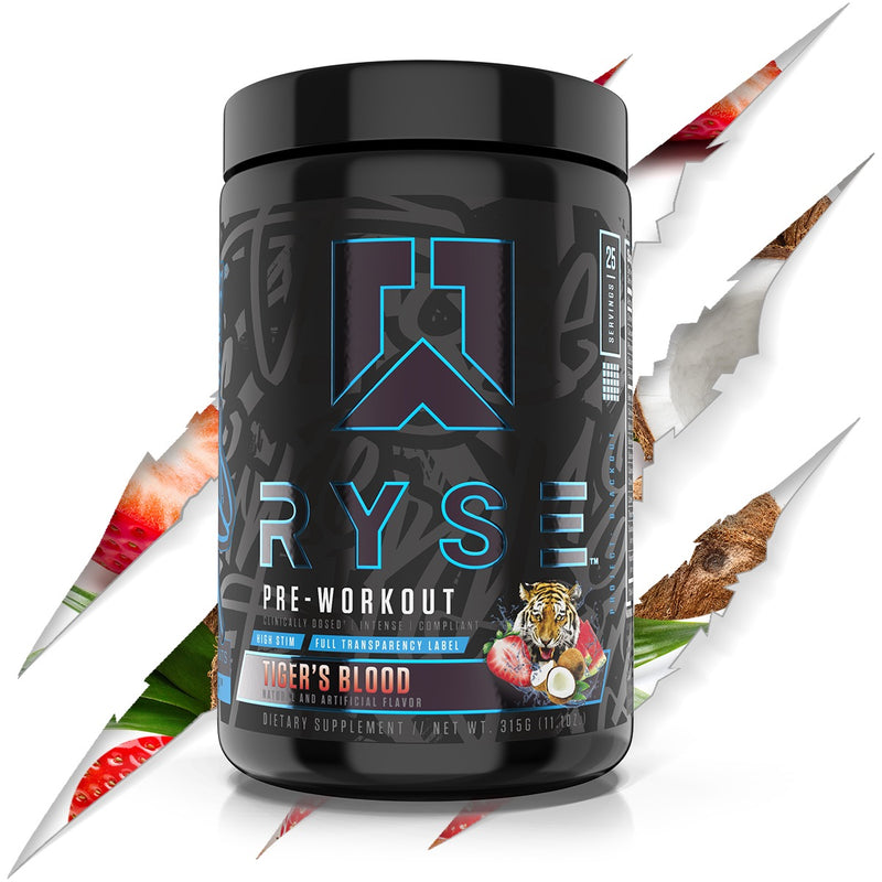 Shop RYSE Up Supplements Project: Blackout | Pre-workout, 25 Serving, Tiger's Blood online  sports-nutrition-pre-workout-powders