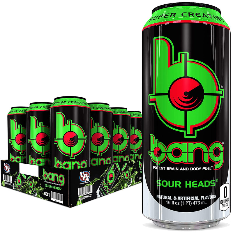Shop VPX Bang, Sour Heads, 16 Fluid Ounce (12 Pack) online  sports-nutrition-endurance-and-energy-drinks