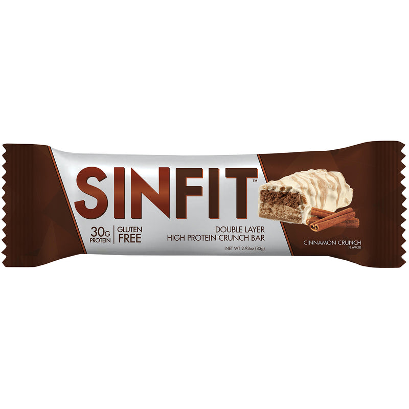 Shop SinFit (Sinister Labs) Double Layer High Protein Crunch Bar, Cinnamon Crunch, 12 Count online  sports-nutrition-protein-bars