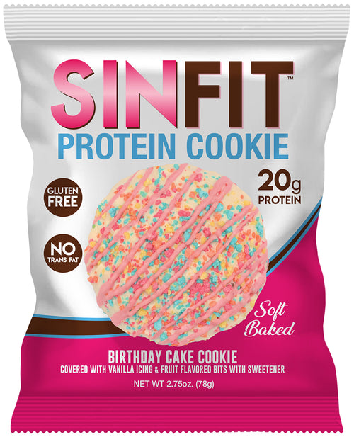 Shop SinFit (Sinister Labs) Soft Baked High Protein Cookies, Birthday Cake Cookie, 10 Count online  sports-nutrition-cookies-and-brownies