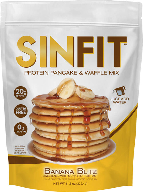 Shop SinFit (Sinister Labs) Protein Pancake and Waffle Mix, Banana Blitz, 6 Serving online  pancake-and-waffle-mixes