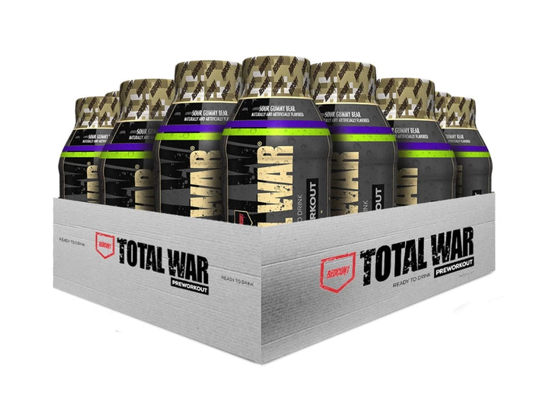 Shop RedCon1 Total War RTD, 12 Fl Oz (Pack of 12), Sour Gummy (Newly Formulated) online  sports-nutrition-endurance-and-energy-drinks