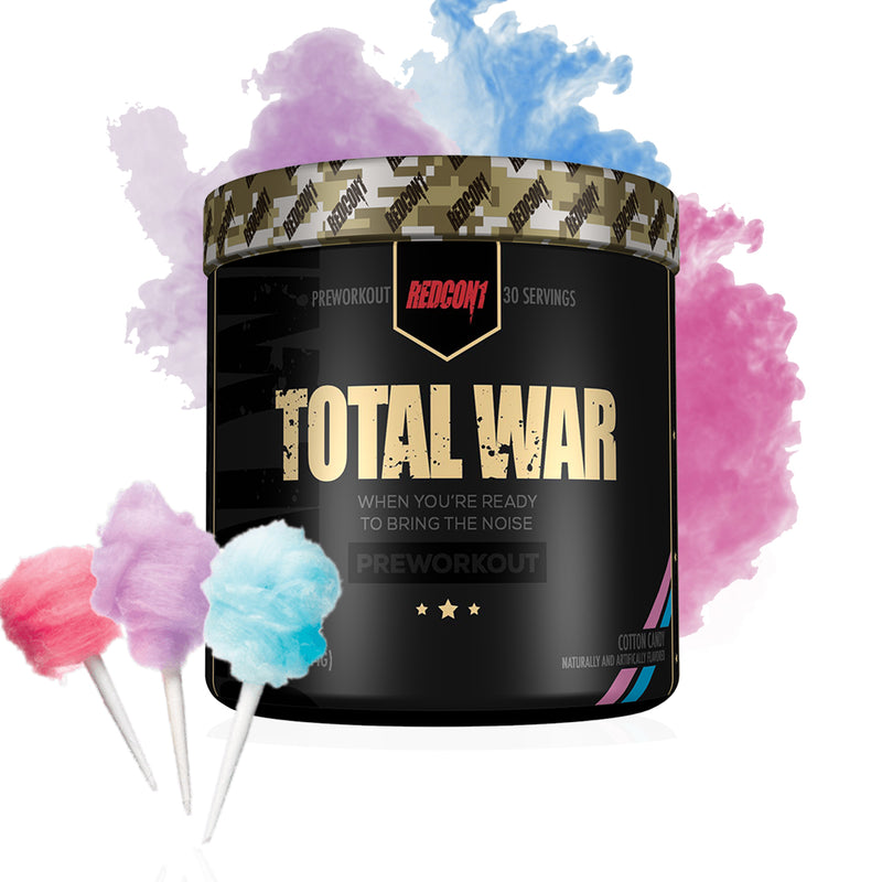 Shop RedCon1 Total War, Cotton Candy, 30 Serving (Newly Formulated) online  sports-nutrition-pre-workout-powders