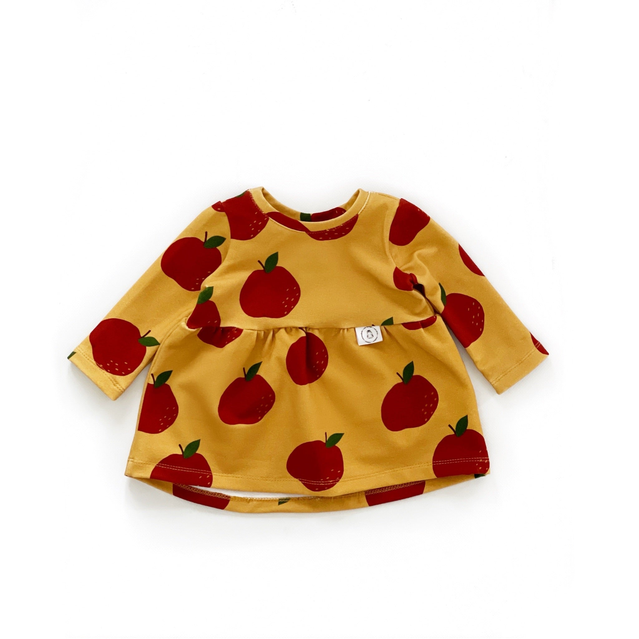 """Zoe"" dress with Apples"
