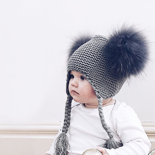 Luxurious Double Pompom Hat