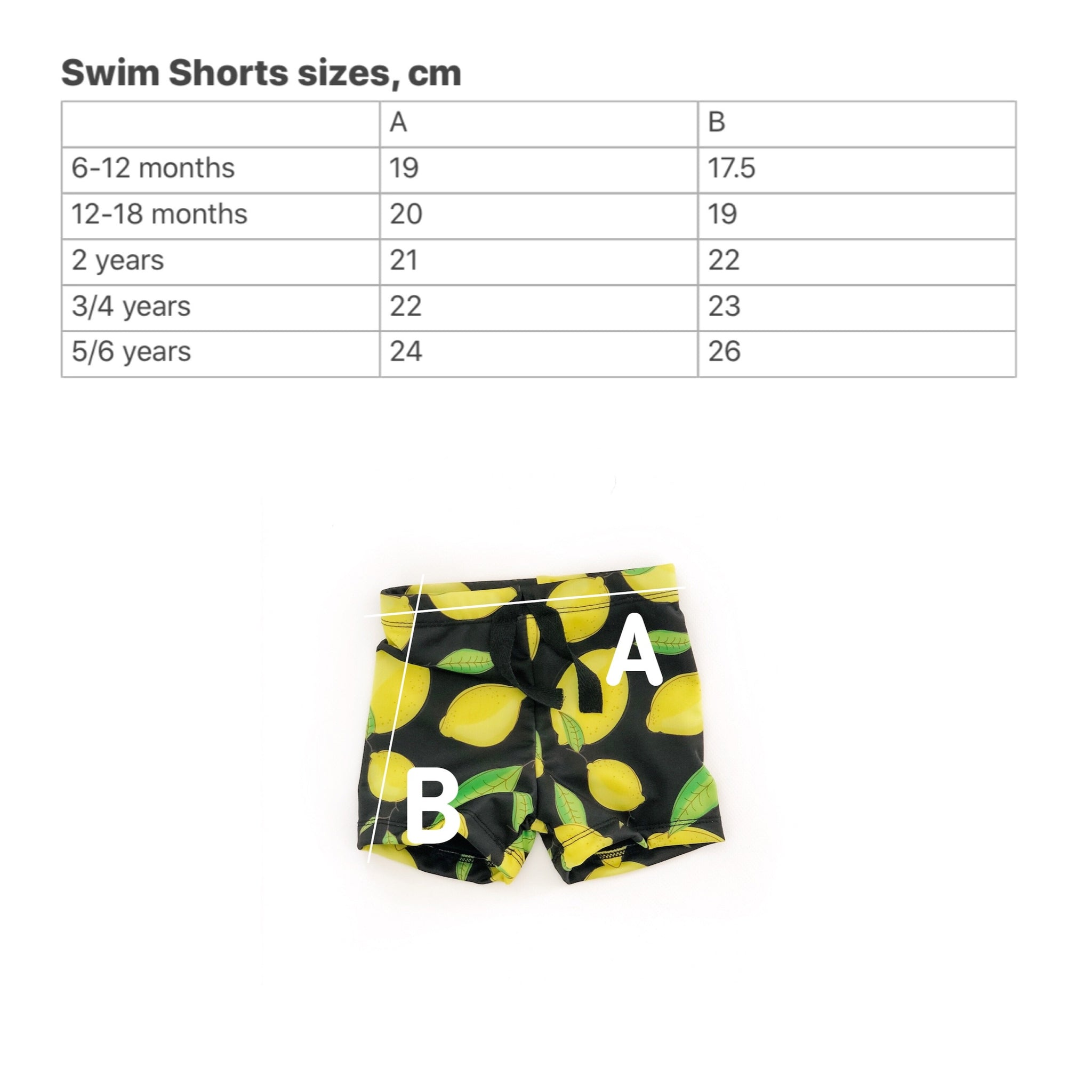 Swim shorts with Fruits