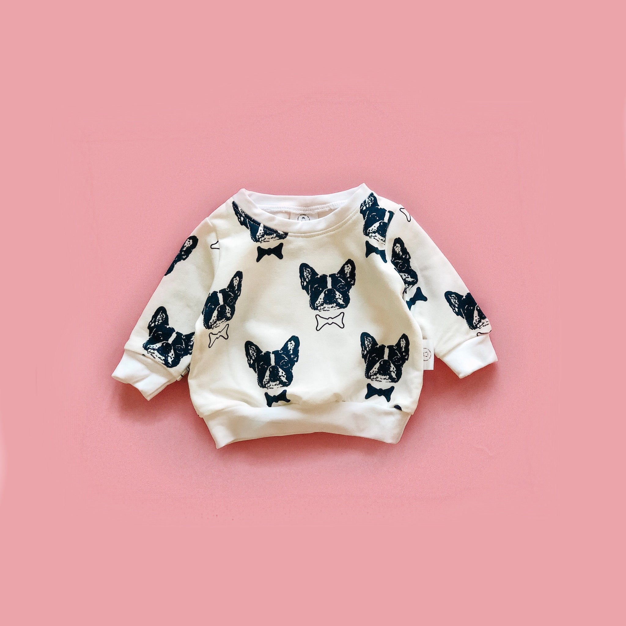 Modern Pullover with Puppies