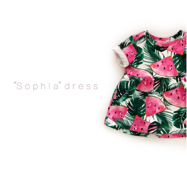 """Sophia"" dress with Watermelons"