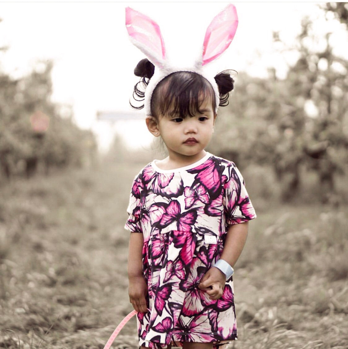 """Sophia"" dress with Butterflies"