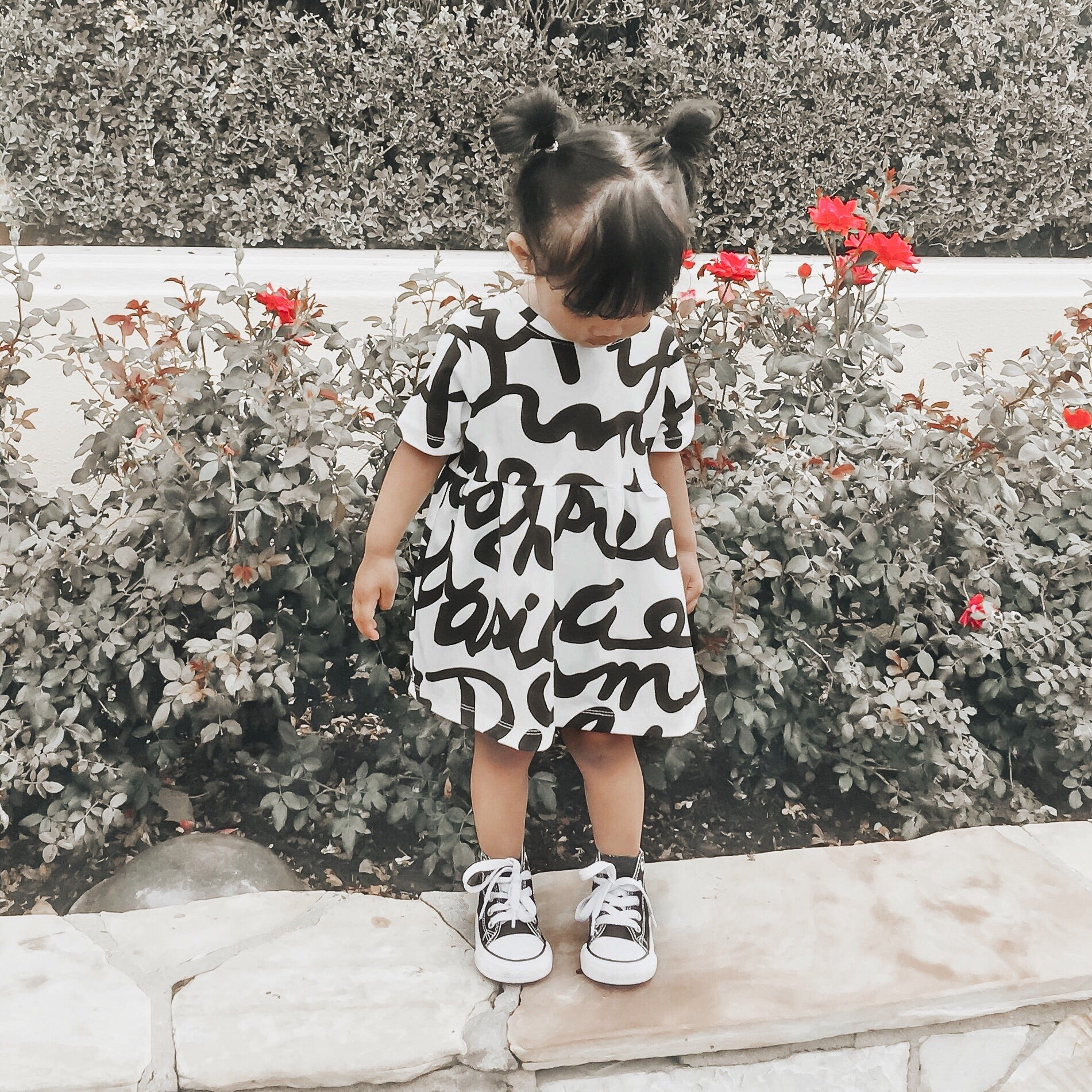 """Sophia"" dress with Scribbles"