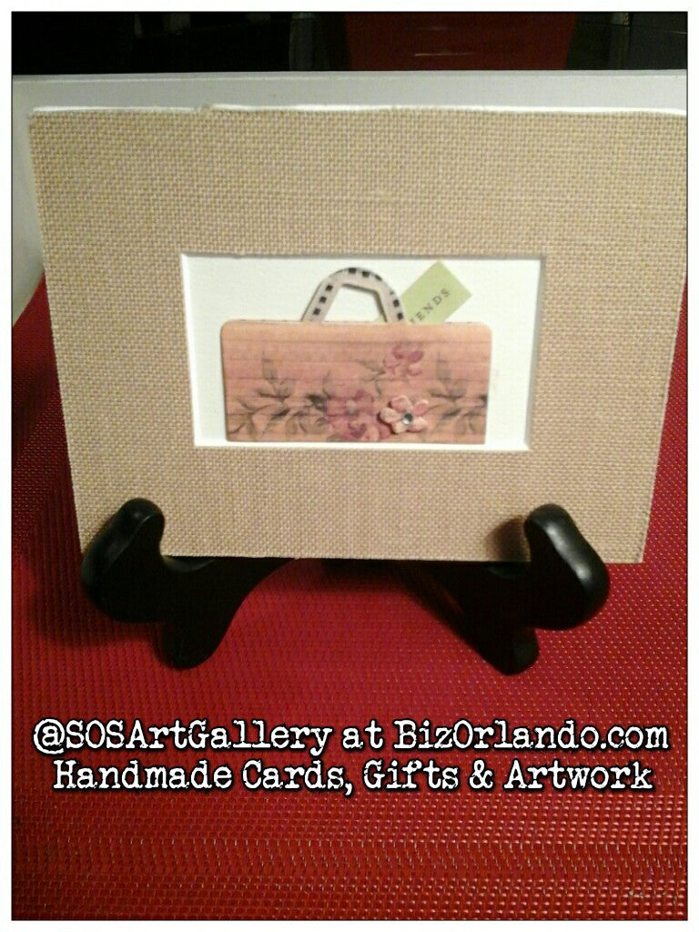 GIFTS: Handcrafted Purse Mixed Media Artwork by @SOSArtGallery