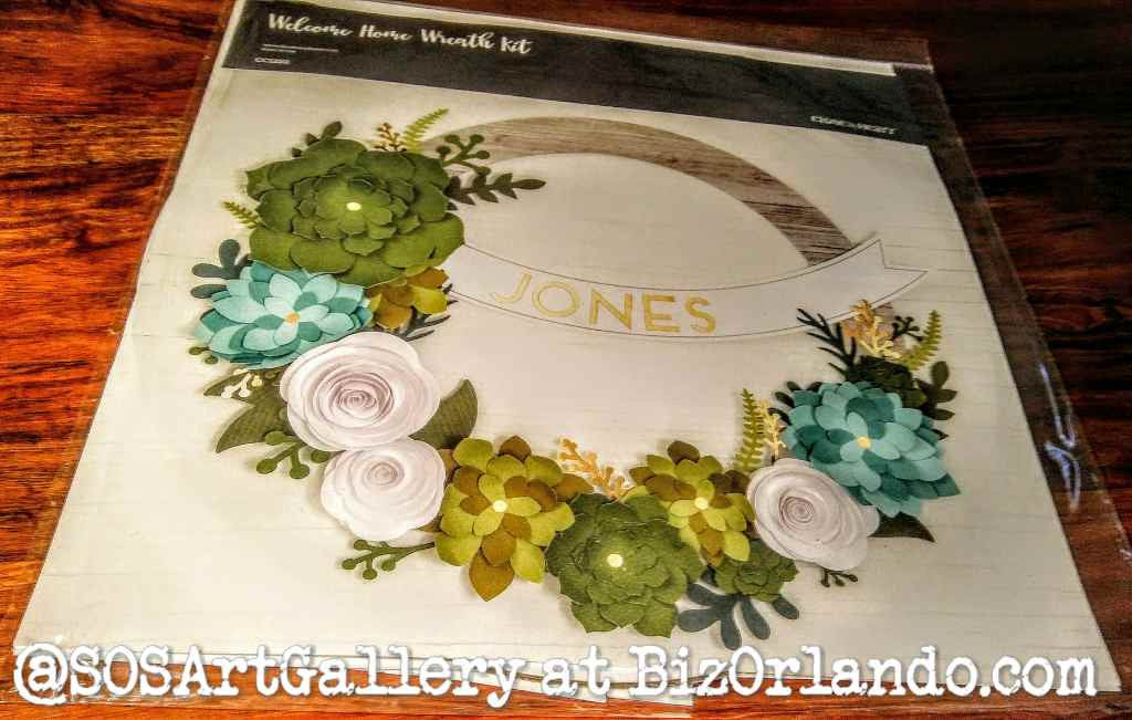ARTS AND CRAFTS SUPPLIES: Welcome Home Wreath Kit