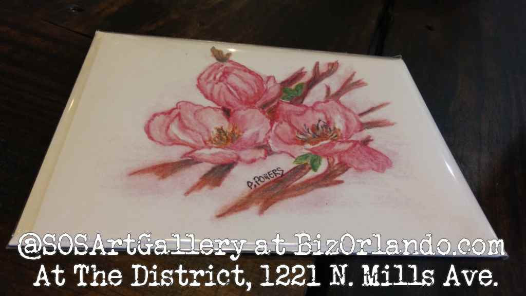 NATURE: Colored Pencil Drawing Greeting Card by Local Artist