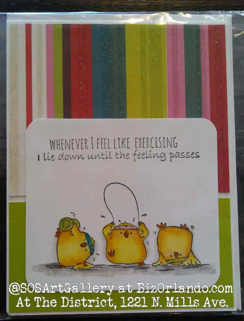 FUNNY: Handmade Greeting Card by Local Artisan