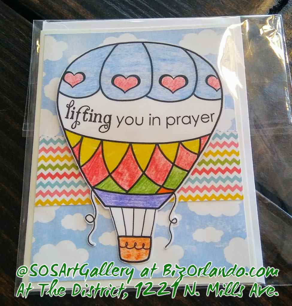 INSPIRATION: Handmade Greeting Card by @SOSArtGallery Artisan