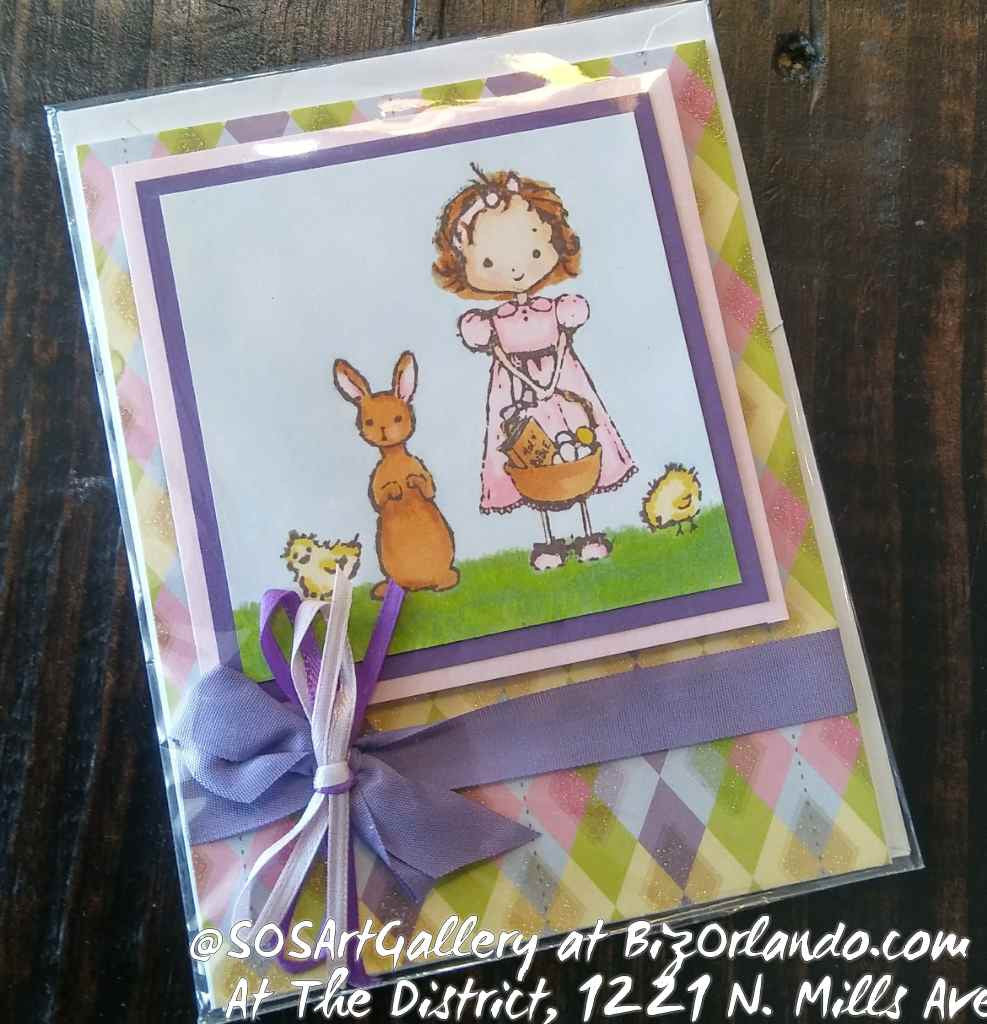 EASTER: Handmade Greeting Card by @SOSArtGallery Artisan