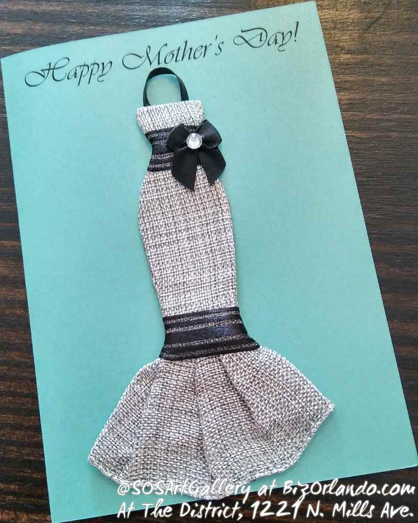 DRESSY CARDS: Handmade Greeting Card by @SOSArtGallery Artisan