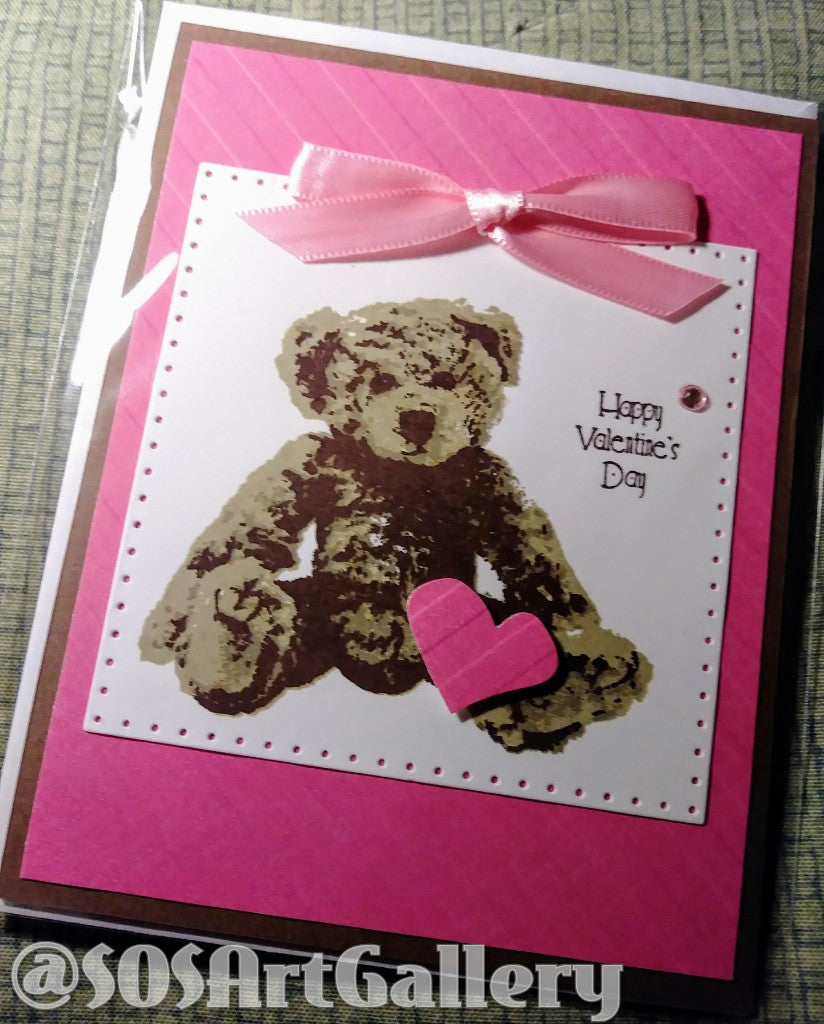 LOVE: Handmade Greeting Card by @SOSArtGallery Artisan