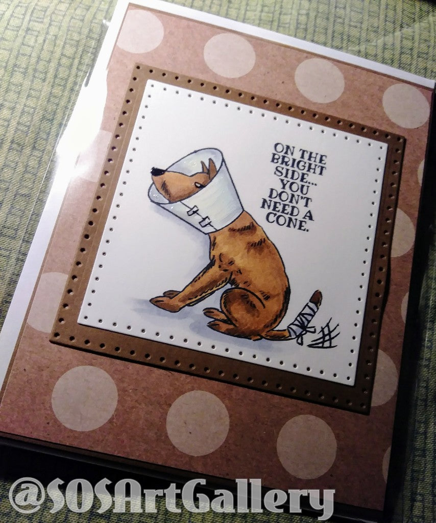 GET WELL SOON: Handmade Greeting Card by @SOSArtGallery Artisan