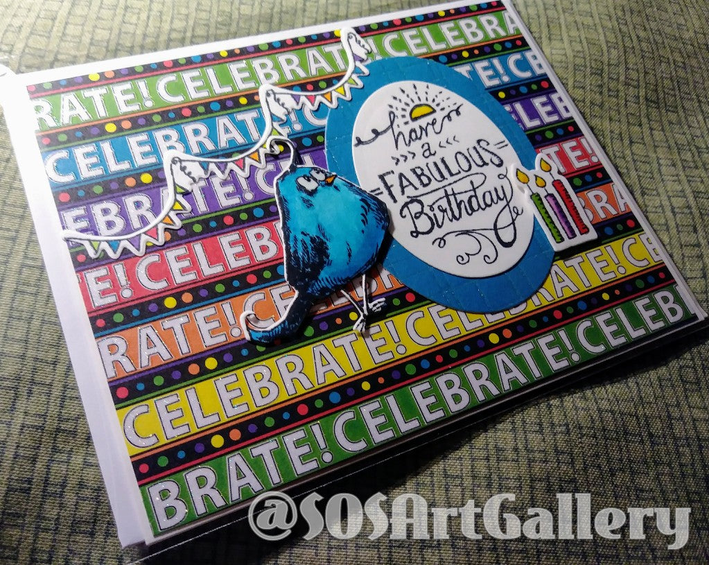 BIRTHDAY: Handmade Greeting Card by @SOSArtGallery Artisan