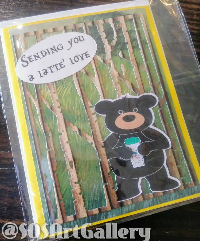 ALL OCCASION: Handmade Greeting Card by @SOSArtGallery Artisan