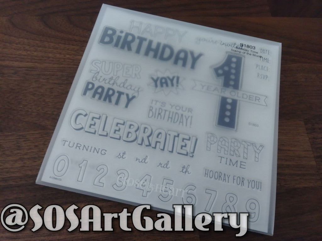 STAMPS: Birthday Time (Stamp Of The Month)