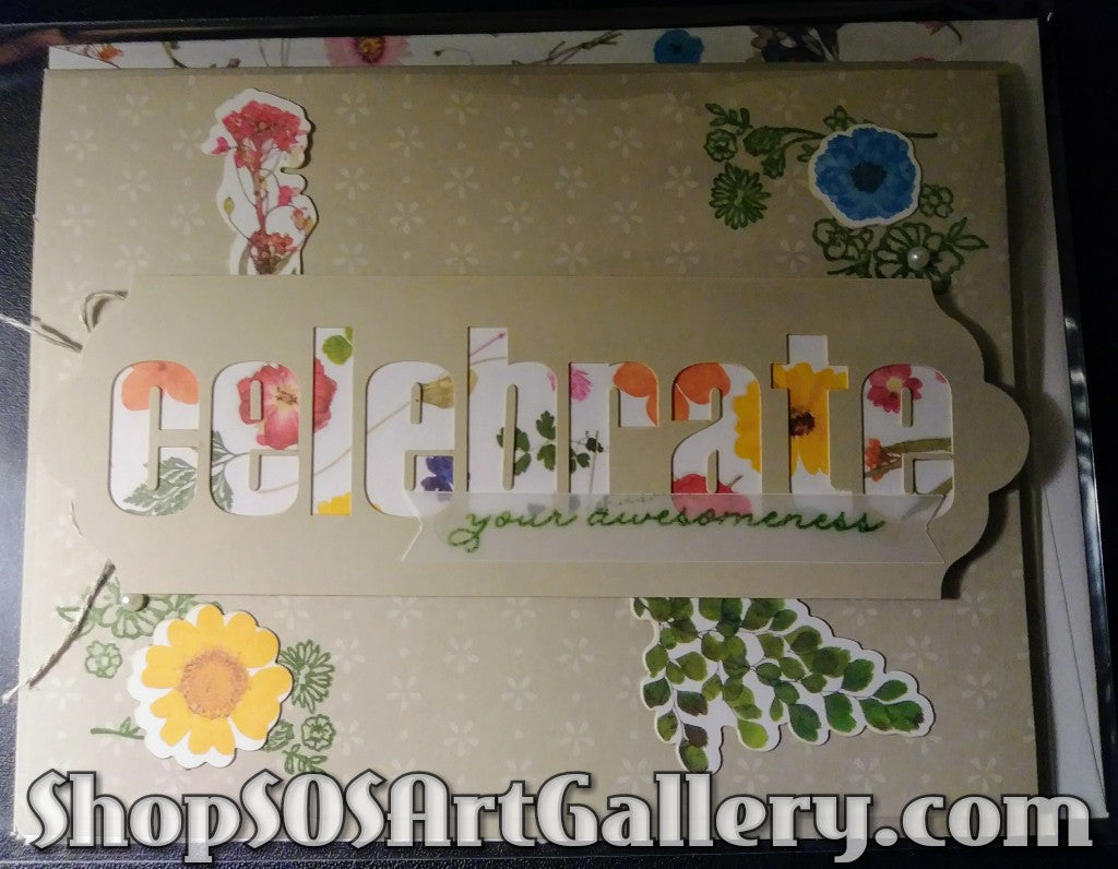 WILDFLOWER WISHES: Handmade Celebrate Greeting Card by Kathryn McHenry