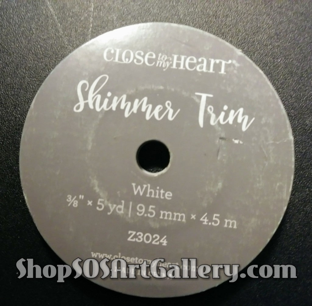 ARTS AND CRAFTS SUPPLIES: White Shimmer Trim