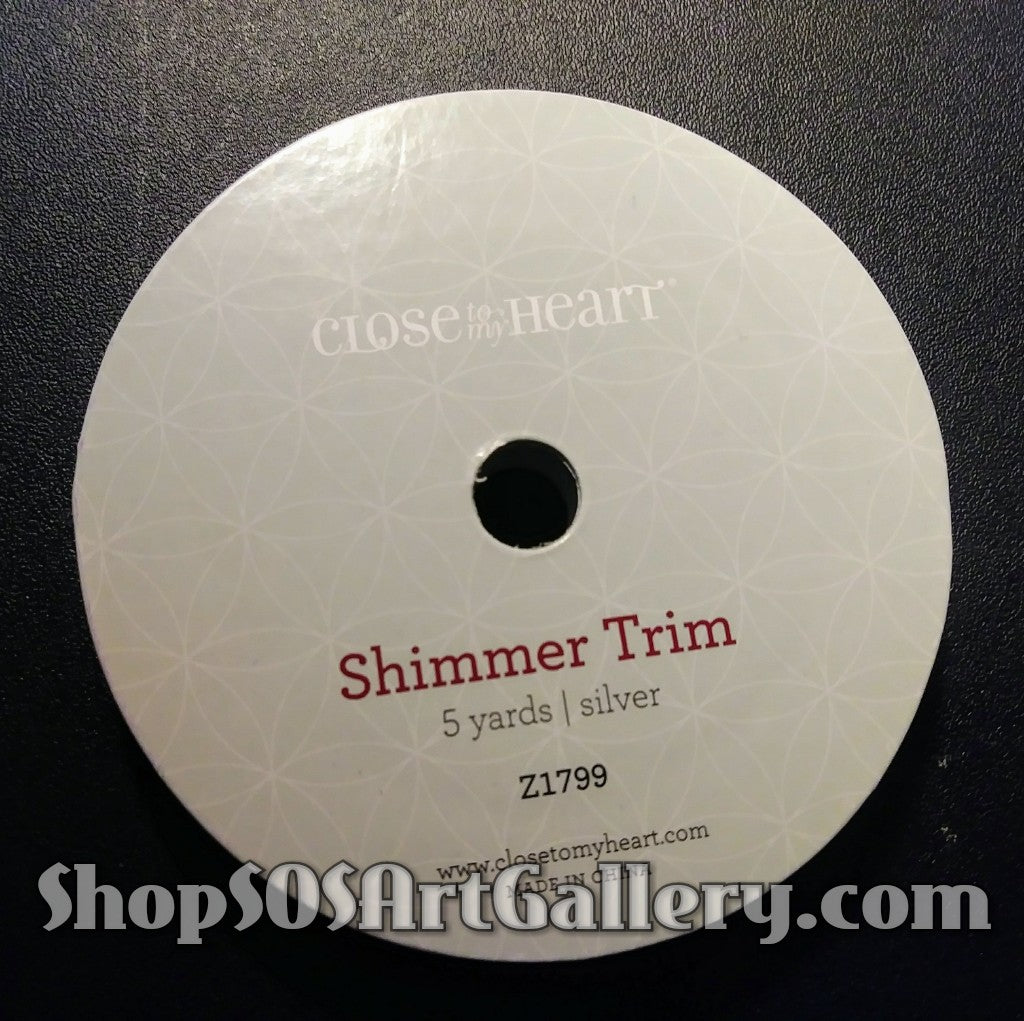 ARTS AND CRAFTS SUPPLIES: Silver Shimmer Trim