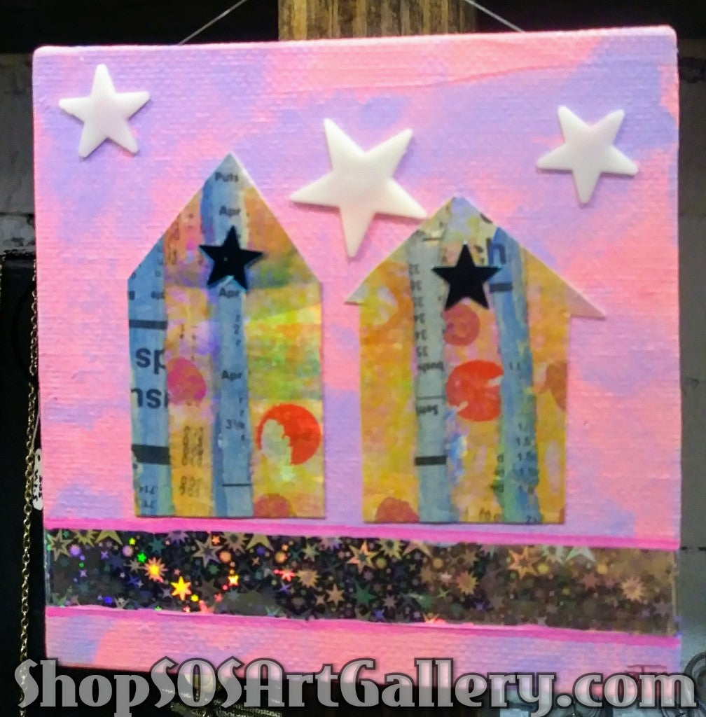 ARTWORK: Hanging Mixed Media Artwork by @SOSArtGallery Artisan