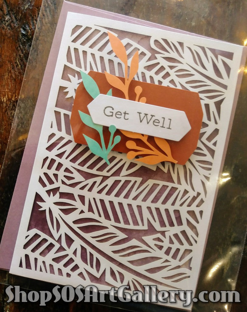 GET WELL SOON: Handmade Greeting Card by @SOSArtGallery