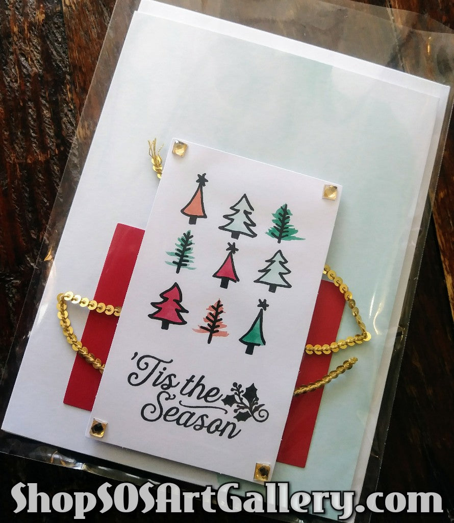 HOLIDAY: Handmade Greeting Card by @SOSArtGallery