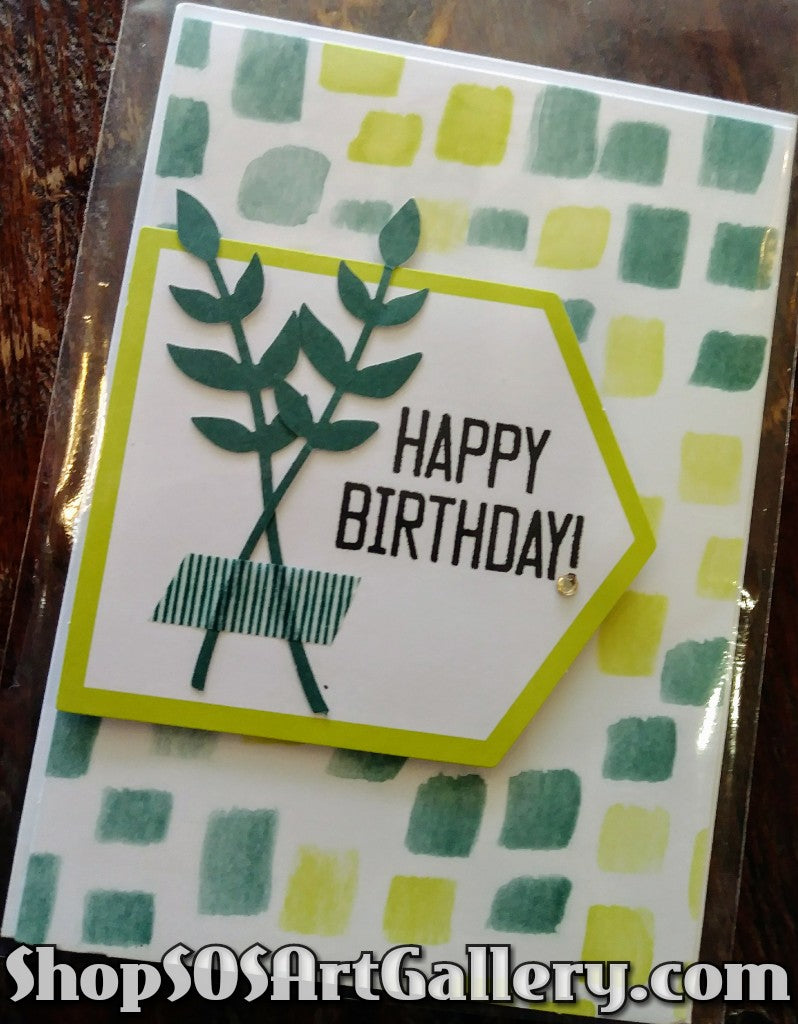 BIRTHDAY: Handcrafted Greeting Card by @SOSArtGallery