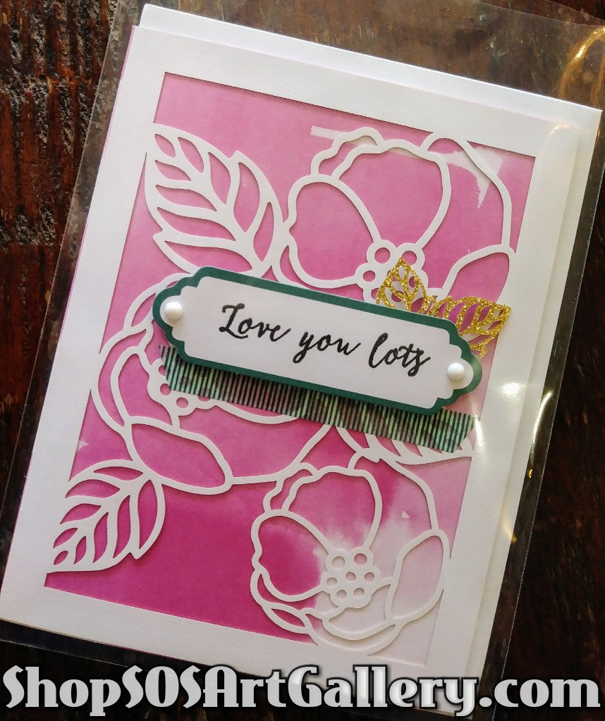 LOVE / ROMANCE: Handmade Greeting Card by Kathryn McHenry