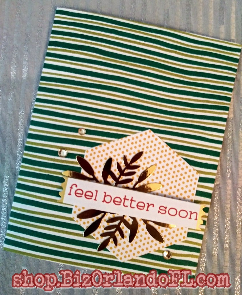 GET WELL SOON: Handmade Greeting Card by Kathryn McHenry