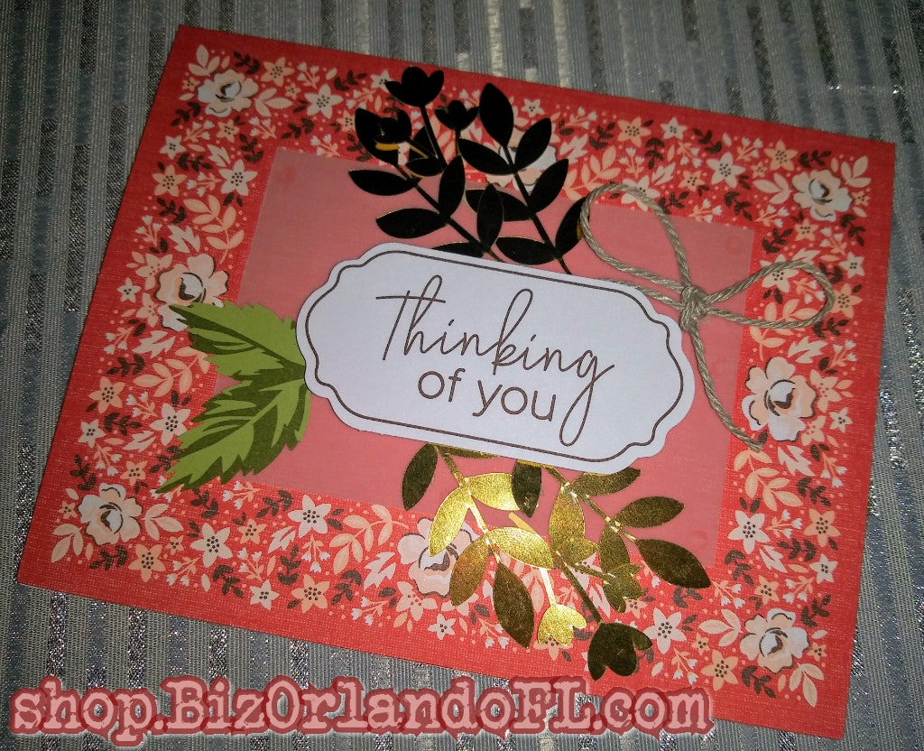 THINKING OF YOU: Handmade Greeting Card by Kathryn McHenry
