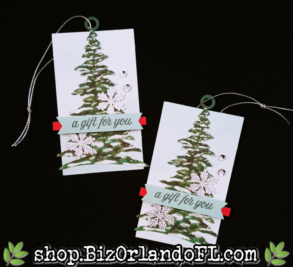 HOLIDAY: Handstamped and embellished gift tag sets of 2 by Kathryn McHenry