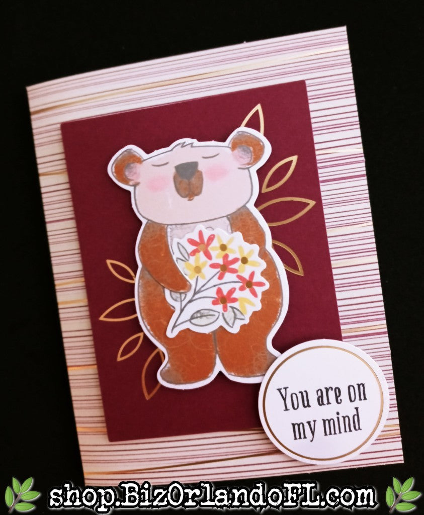 THINKING OF YOU: Handmade Thinking Of You Greeting Card by Kathryn McHenry