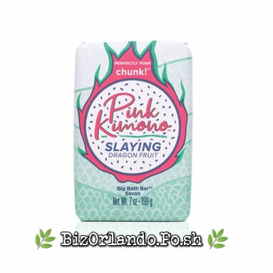 PERFECTLY POSH: Pink Kimono Slaying Dragon Fruit Chunk Big Bath Bar